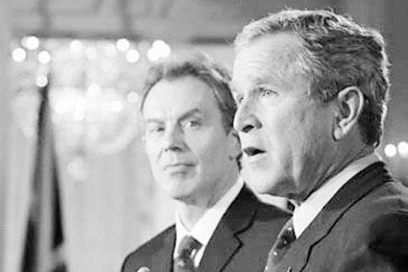 War Criminals Bush and Blair
